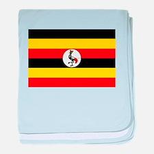 Uganda Flag baby blanket
