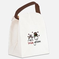 Bride And Groom Canvas Lunch Bag