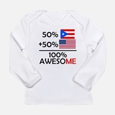 Half Puerto Rican Half American Long Sleeve T-Shir