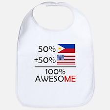 Half Filipino Half American Bib