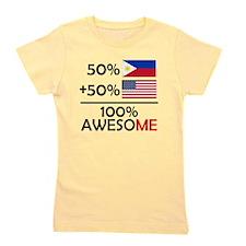 Half Filipino Half American Girl's Tee