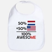 Half Dutch Half American Bib
