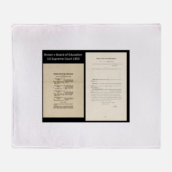 Brown V Board Ed Supreme Court 1953 Throw Blanket