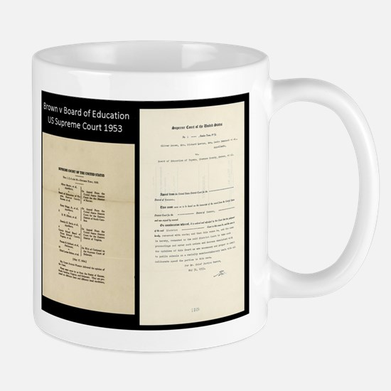 Brown V Board Ed Supreme Court 1953 Mugs