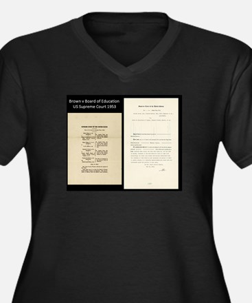 Brown V Board Ed Supreme Court 1953 Plus Size T-Sh