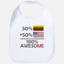 Half Lithuanian Half American Bib