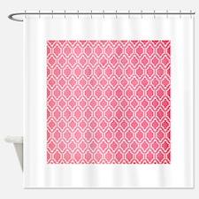 Hot Pink, Vintage Quatrefoil Shower Curtain
