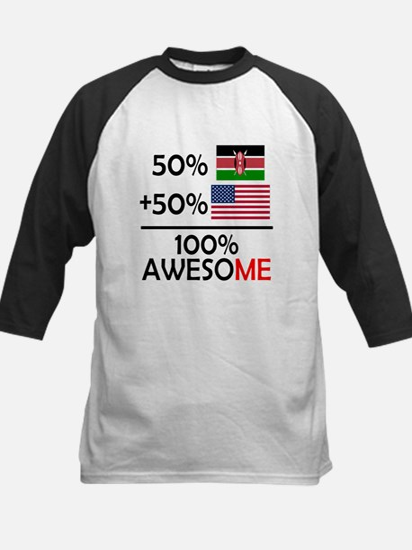 Half Kenyan Half American Baseball Jersey