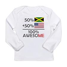 Half Jamaican Half American Long Sleeve T-Shirt