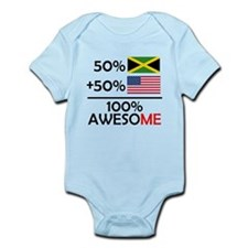 Half Jamaican Half American Body Suit