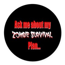 Funny zombie Round Car Magnet