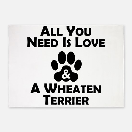 Love And A Wheaten Terrier 5'x7'Area Rug