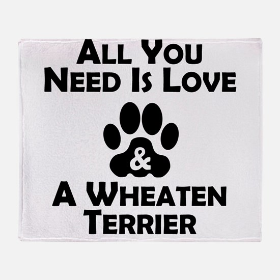 Love And A Wheaten Terrier Throw Blanket