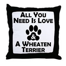 Love And A Wheaten Terrier Throw Pillow