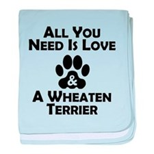 Love And A Wheaten Terrier baby blanket