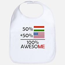 Half Hungarian Half American Bib