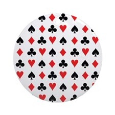 Card Suits Ornament (round)