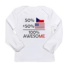 Half Czech Half American Long Sleeve T-Shirt