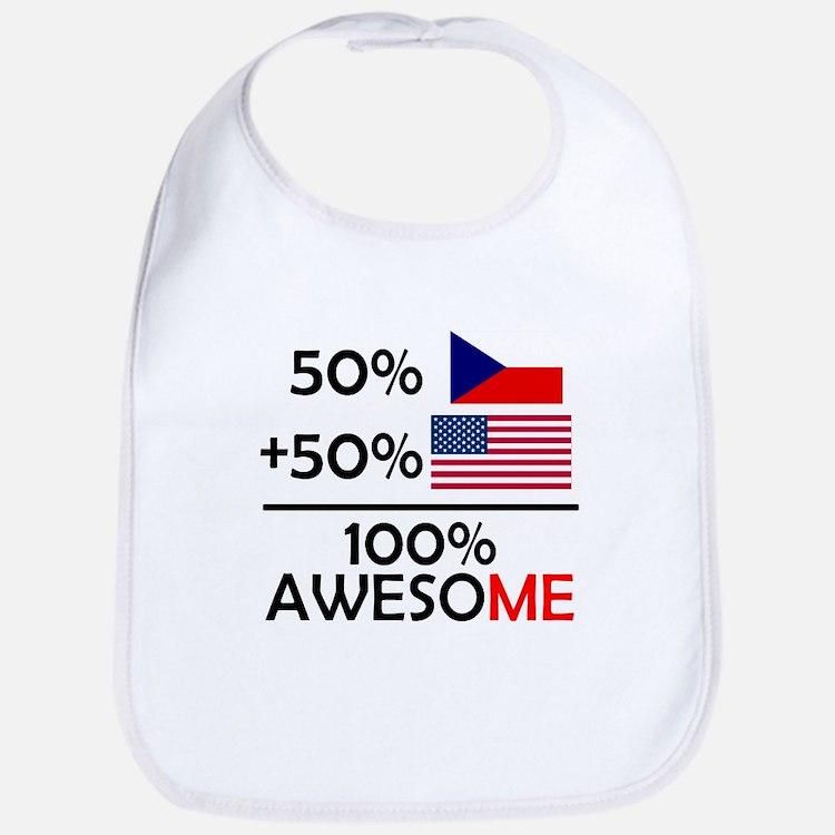 Half Czech Half American Bib