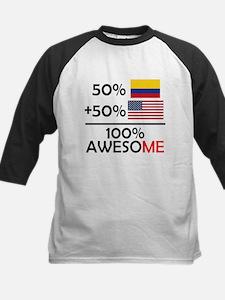 Half Colombian Half American Baseball Jersey