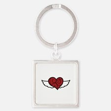 Heart With Wings Keychains