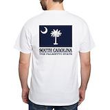 South carolina Mens White T-shirts