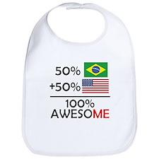 Half Brazilian Half American Bib