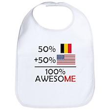 Half Belgian Half American Bib