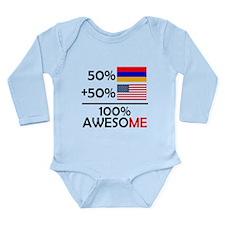 Half Armenian Half American Body Suit