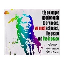 Live in Peace Throw Blanket