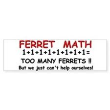 Ferret Math Bumper Bumper Sticker