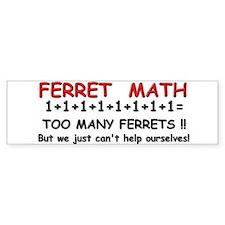 Ferret Math Bumper Car Sticker