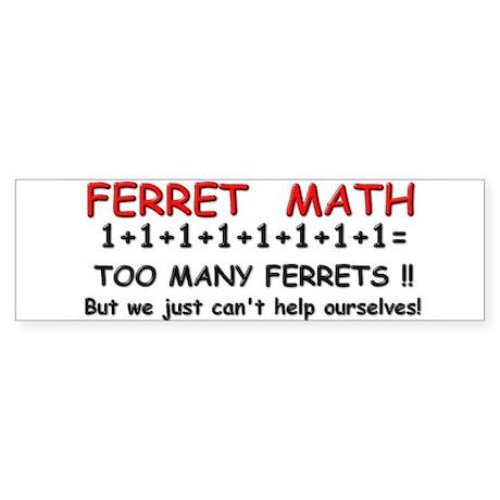 Ferret Math Bumper Sticker