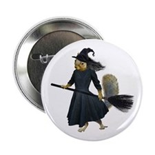 "Squirrel Witch 2.25"" Button (10 pack)"