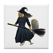 Squirrel Witch Tile Coaster