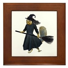 Squirrel Witch Framed Tile