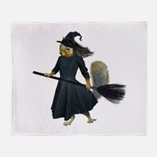 Squirrel Witch Throw Blanket