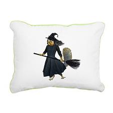 Squirrel Witch Rectangular Canvas Pillow