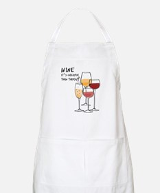 Wine Its cheaper than therapy Apron