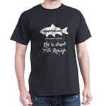 White Vertical Tribal Sturgeon T-Shirt