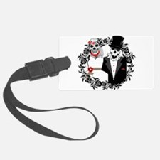 Skull Bride and Groom Luggage Tag