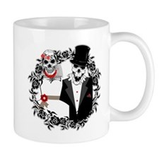 Skull Bride and Groom Mug