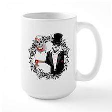 Skull Bride and Groom Mug