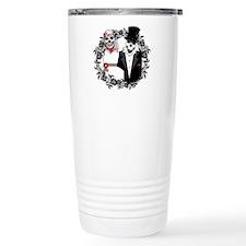 Skull Bride and Groom Travel Coffee Mug