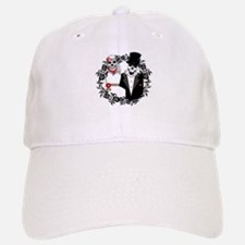 Skull Bride and Groom Baseball Baseball Cap