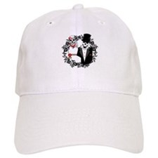 Skull Bride and Groom Baseball Cap