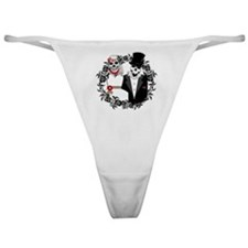 Skull Bride and Groom Classic Thong