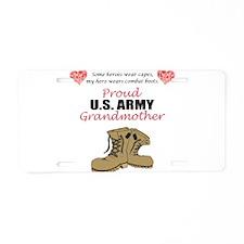 Cute Military grandmother Aluminum License Plate