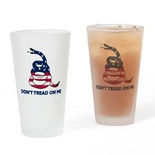 Dont Tread on Me Gadsen Drinking Glass