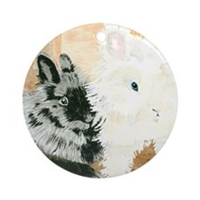 Lionheads Lola and Vito Round Ornament